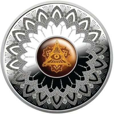 Eye of Providence $1 dollar Pure Silver Proof Coin Niue 2017