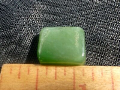 Gem Green Siberian Nephrite Jade Polished Small Cab 5.75 Gram 28.75 Carat Jewel