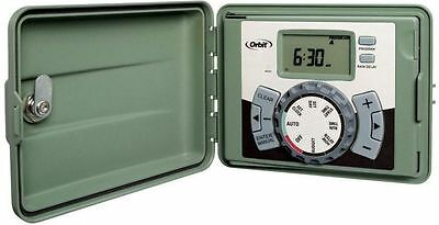 ORBIT 6-Station 3 Prog Easy Set Logic Indoor/Outdoor Sprinkler Timer Model 27896