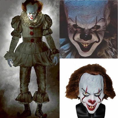 Handmade Pennywise Clown Mask from Stephen King's IT Movie Halloween 2017