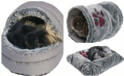 Snuggle Luxury Soft Plush Cosy Bed Tunnel Rabbits Guinea Pig Ferrets Toy Dog Cat