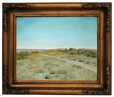 Chase First Touch of Autumn 1898 Wood Framed Canvas Print Repro 11x14