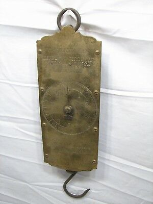 Early Forschner's  30lb Brass Face Hanging Market Scale Tool Balance