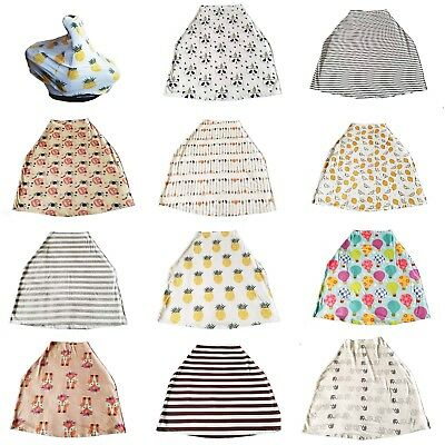 High Quality Stretch Cotton Nursing Cover Baby Car Seat Cover Scarf FREE US Ship