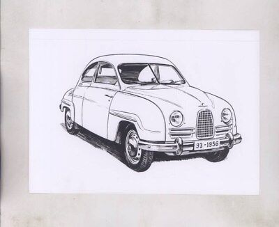 1956 Saab 93 ORIGINAL Factory Photograph wy6151