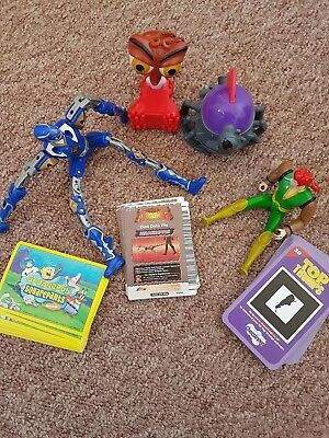Bunch of toys and cards(spongebob and dinosaur king , top trumps)