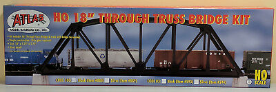 "HO Atlas #888 - 18"" Through Truss Bridge Kit - Code 100 - Black"