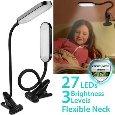 Flexible Clip On USB LED Bedside Reading Piano Music Stand Desk Lamp Night Light