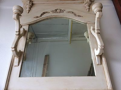 Handmade Beautiful Antique and Vintage Mirror w Candle Holder and Stained Finish