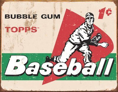TOPPS - 1958 Baseball Cards Metal Tin Sign , 16x12 - NEW