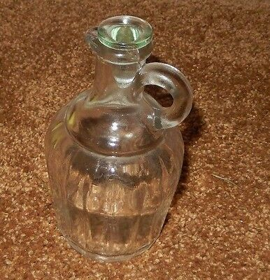 1 Ribbed Glass Cruet Bottle With Lid