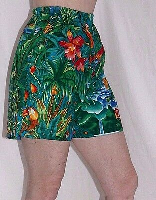 90's Vintage Hawaii Tropical Parrot Shorts Size exSm/S Vacation Cruise Beach