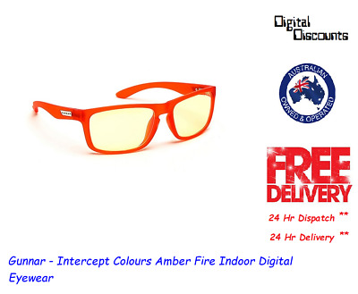 Gunnar - Intercept Colours Amber Fire Indoor Digital Eyewear