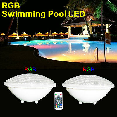 18W LED Swimming pool lights PAR56 bulb 12V AC/DC RGB Remoter control IP68