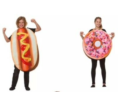 Kids party food Costume - Donut Pizza Hotdog ( choose 1 or buy all 3) cosplay