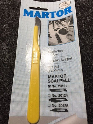 MARTOR 20121 Yellow Graphic Scalpel Craft tool knife - Made in Germany