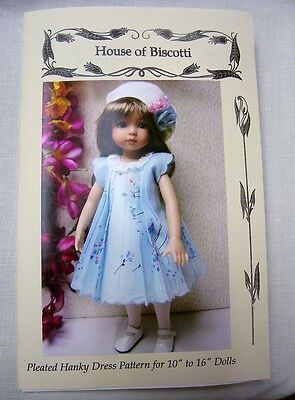 "Pleated Hanky Dress PATTERN 10"" to 16"" Dolls   Effner Little Darling"