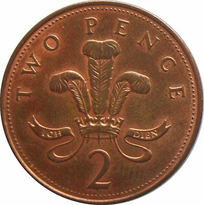 2p TWO PENCE TWO PENNY BRITISH COINS, COIN HUNT- circulated coins