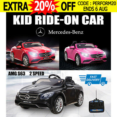 Licensed Mercedes-Benz AMG S63 Electric Kids Ride On Car 2 speed Toy Battery 12V