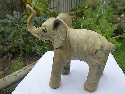 "Vintage 8"" Crushed Oyster Shell Elephant Figurine"