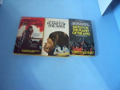 Lot Of 3 Planet Of The Apes*battle For The Planet Of Apes*conquest Of The Planet
