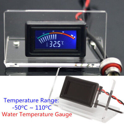 Water Cooling Analog Water Temperature Gauge G1/4 Thermodetector LCD + Frame Kit