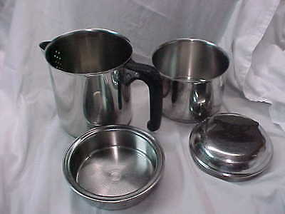 Nicro Stainless Steel Percolator  Made in Chicago