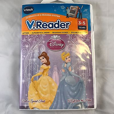 New Vtech V.Reader Disney Princess Game 3-5 Years Interactive Reading System