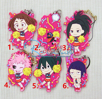 My Hero Academia  Boku no Hero Academia あすい つゆやおよろず もも Keychain rubber Key Ring