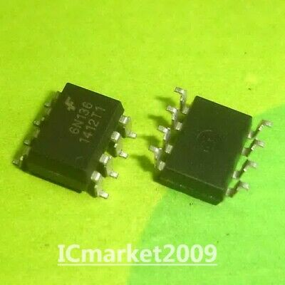 10 Pcs 6N136 Smd-8 Fsc High Speed Transistor Optocouplers