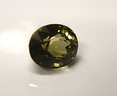 Natural earth-mined olive green tourmaline gemstone...3 carats