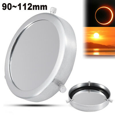 90~112 mm Silver Solar Filter Baader Film Metal Cover For Astronomical Telescope