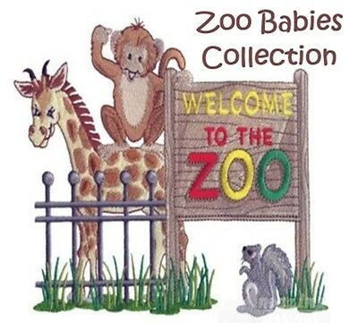 Zoo Babies  Collection - Machine Embroidery Designs On Cd