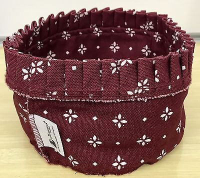 Longaberger Button Basket Liner in Traditional Red