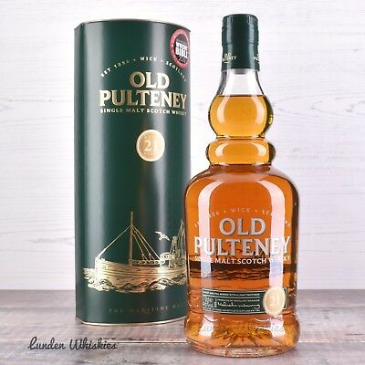 Old Pulteney 21 Year Old Single Malt Scotch Whisky *Rare & Discontinued!