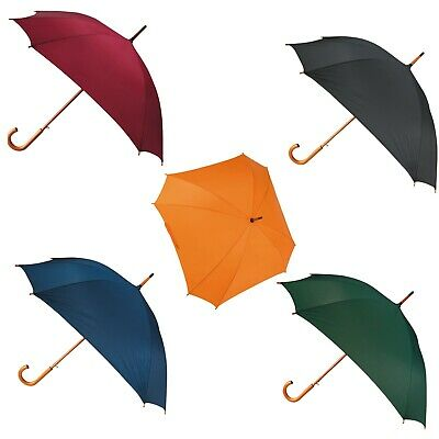 5 Automatic 8 rib square umbrellas. Curved wooden handle, Special Ocassions,