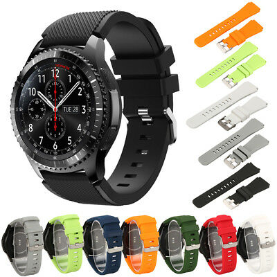 Silicone Sports Bracelet Strap Watch Band For Samsung Gear S3 Frontier / Classic