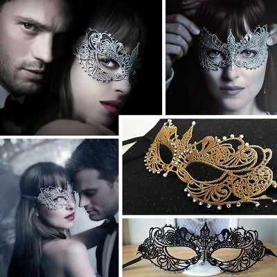 Fifty Shades Darker Sexy Lace Eye Mask Masquerade Party Ball Costume Black Gold