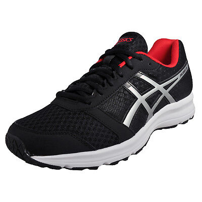 Asics Patriot 8 Mens Running Shoes Fitness Gym Workout Trainers Black New 2017
