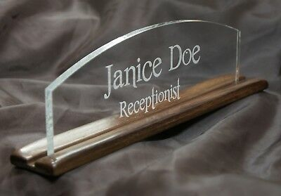 ***Personalize Custom Desk Table Name Plate Plaque Gorgeous Rosewood Handmade***