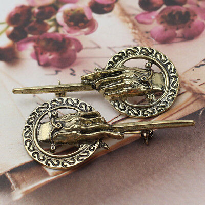 2x Game of Thrones Hand of the King Suit Shirt Bronze Alloy Brooch Pin Badge 3w
