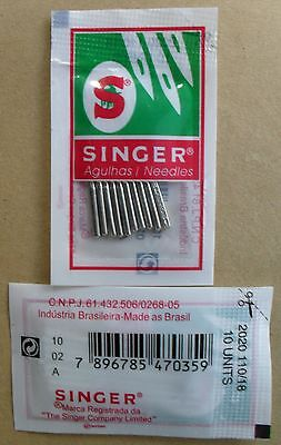 Singer Domestic Sewing Machine Needles!  10 In A Pack Size 18 Uk  Seller