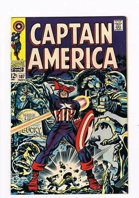 Captain America # 107 Red Skull grade 8.5 scarce book !!