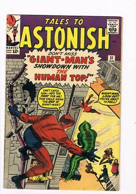 Tales to Astonish # 51  Giant-Man vs the Human Top  grade 5.5 scarce book !!