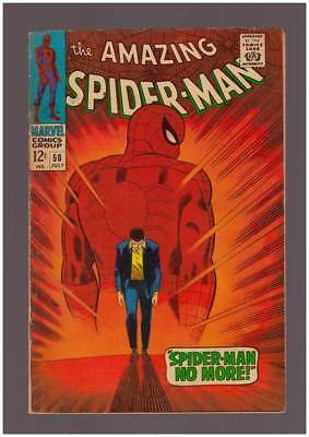 Amazing Spider-Man # 50  Classic  Spider-Man No More  !  grade 4.0 scarce book !