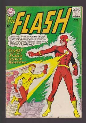 Flash # 135 Secret of the Three Super-Weapons ! grade 4.0 scarce book !!