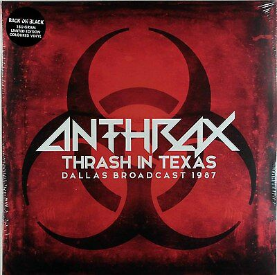Anthrax - Thrash In Texas - Dallas 1987 (Limited 2 x Red Vinyl LP) New