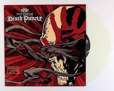 "Five Finger Death Punch - Hard To See (Ltd Numbered White Vinyl 7""- only 1,000!)"