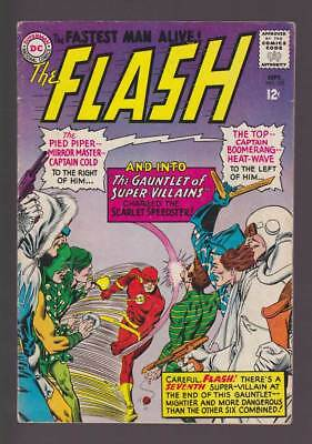 Flash # 155 Gauntlet of Super-Villains ! grade 4.5 scarce book !!