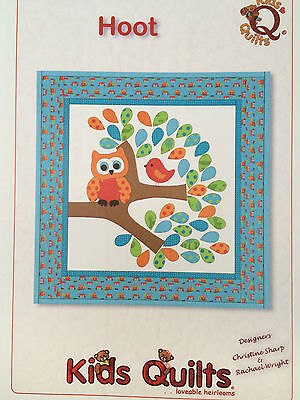 Hoot The Owl Wall Quilt Patchwork & Applique Pattern By Kids Quilts New Zealand